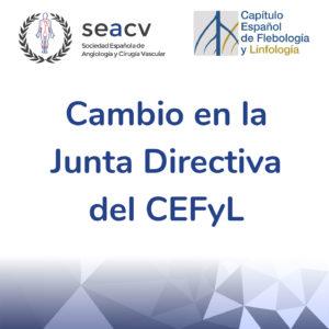 Cambio en la Junta Directiva del Capítulo Español de Flebología y Linfología (CEFyL)