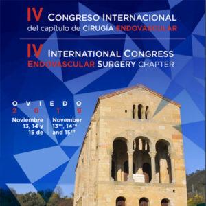 IV Congreso Internacional del Capítulo de Cirugía Endovascular (C-CEV), a celebrar en Oviedo del 13 al 15 de noviembre