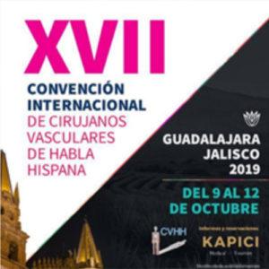 XVII Convención de Cirujanos Vasculares de Habla Hispana (CVHH), a celebrar en Guadalajara (México) del 9 al 12 de octubre