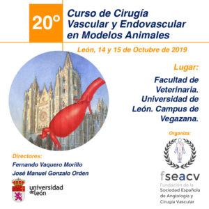 XX Curso de Cirugía en modelos animales para residentes en vascular. León, 14 y 15 de octubre de 2019
