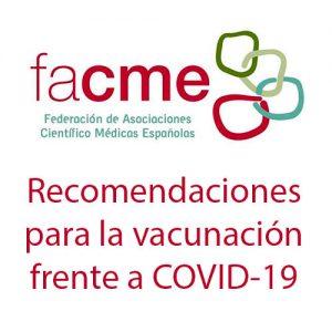 Recomendaciones FACME para la vacunación COVID