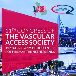 11º Congreso de la 'Vascular Access Society' en Rotterdam los días 11 al 13 de abril de 2019