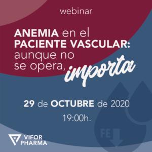 """Vídeo: """"Anemia en el paciente vascular: aunque no se opera, importa"""" (29 de octubre)"""