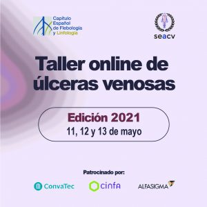 TALLER ONLINE DE ÚLCERAS VENOSAS. MAYO 2021
